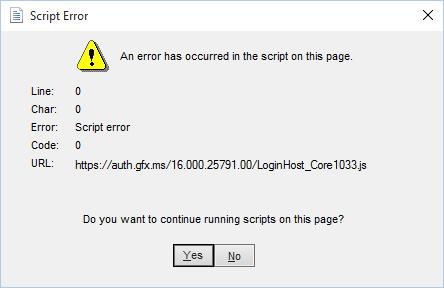 eliminare l'errore Microsoft Onedrive script su Windows 10