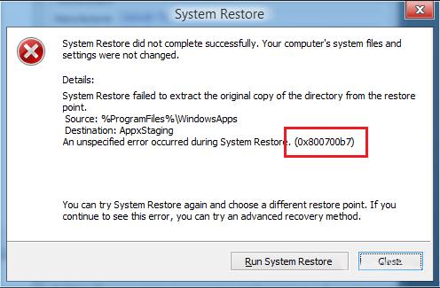 come riparare backup e ripristino & sbarazzarsi di 0x800700b7 errore