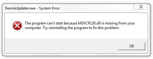 Come sbarazzarsi di errore Msvcp120.dll