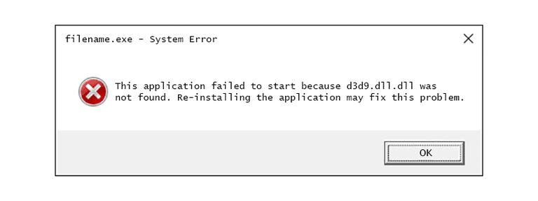 liberarsi di d3d9.dll è mancante errore