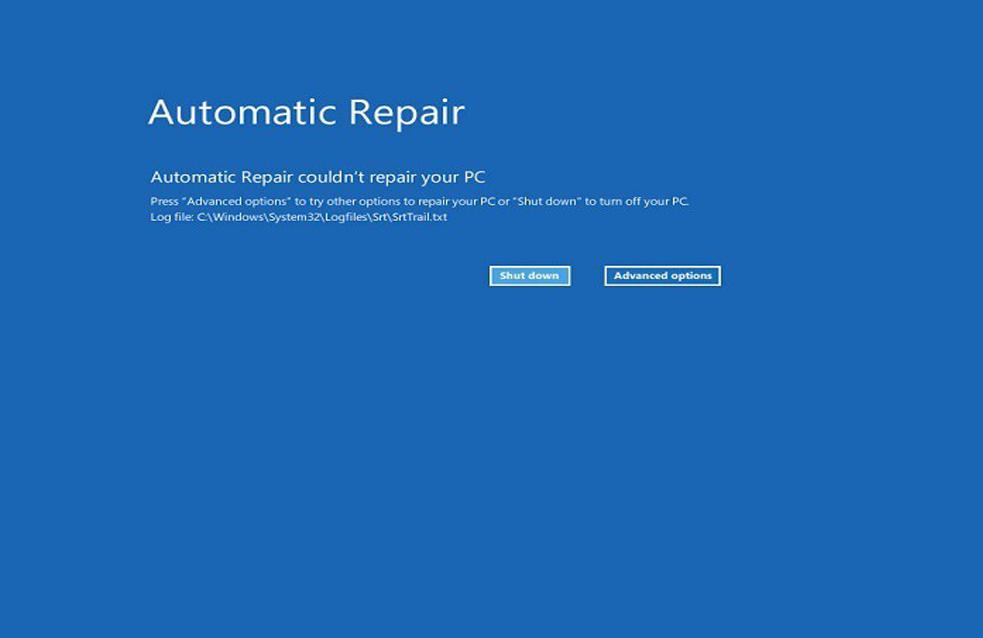 Ripristino automatico di Windows 10 non è riuscito a ripristinare il PC