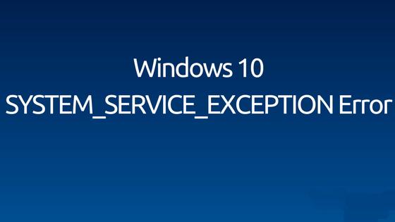 elimina l'errore System_Service_Exception