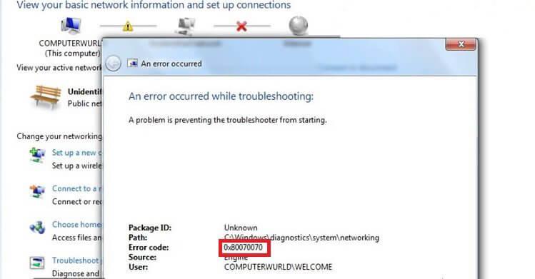 errore di Windows Update
