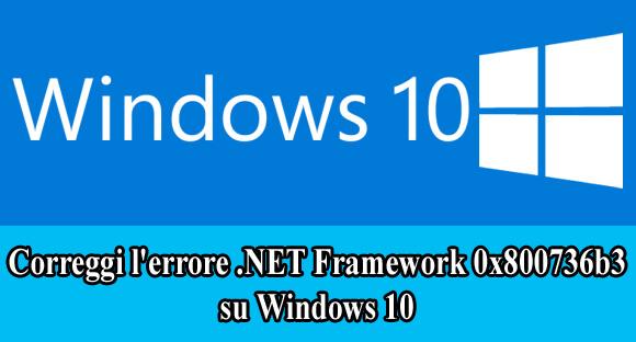 riparare l'errore .NET Framework 0x800736b3