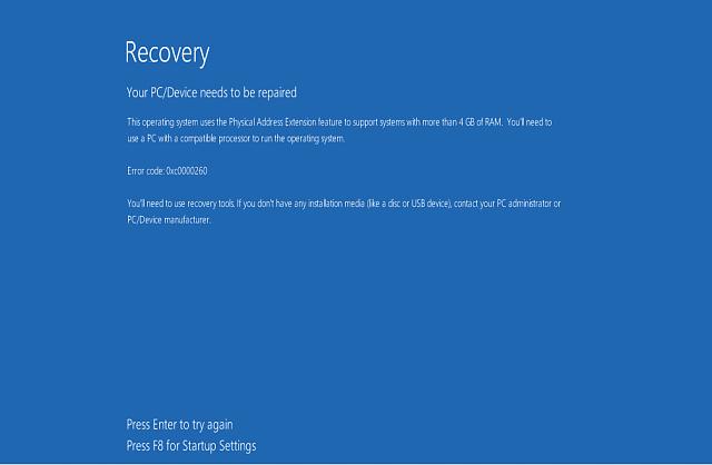 """Risolto il problema """"Errore di file di configurazione di avvio mancante"""" in Windows 10,"""