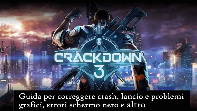 Crackdown 3 problemi